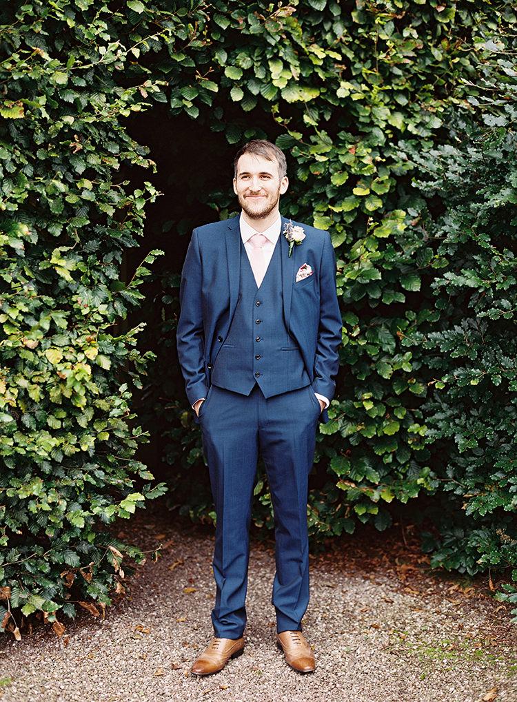 Navy Blue Suit Next Groom Pretty Floral Wonderland DIY Wedding http://www.victoriaphippsphotography.co.uk/