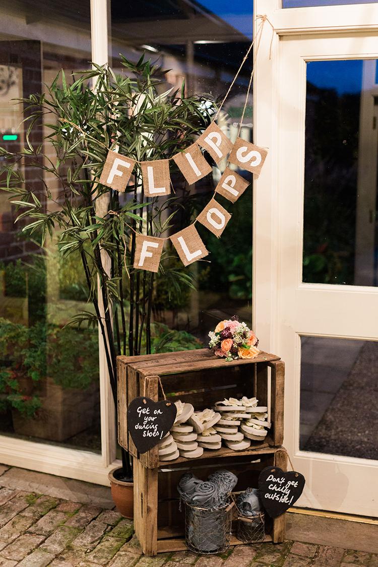 Flip Flops Crate Pretty Floral Wonderland DIY Wedding http://www.victoriaphippsphotography.co.uk/