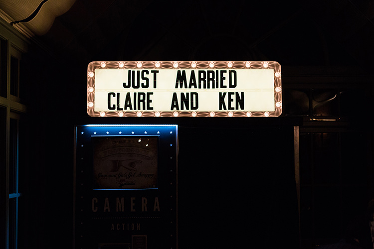 Light Up Cinema Sign Pretty Floral Wonderland DIY Wedding http://www.victoriaphippsphotography.co.uk/