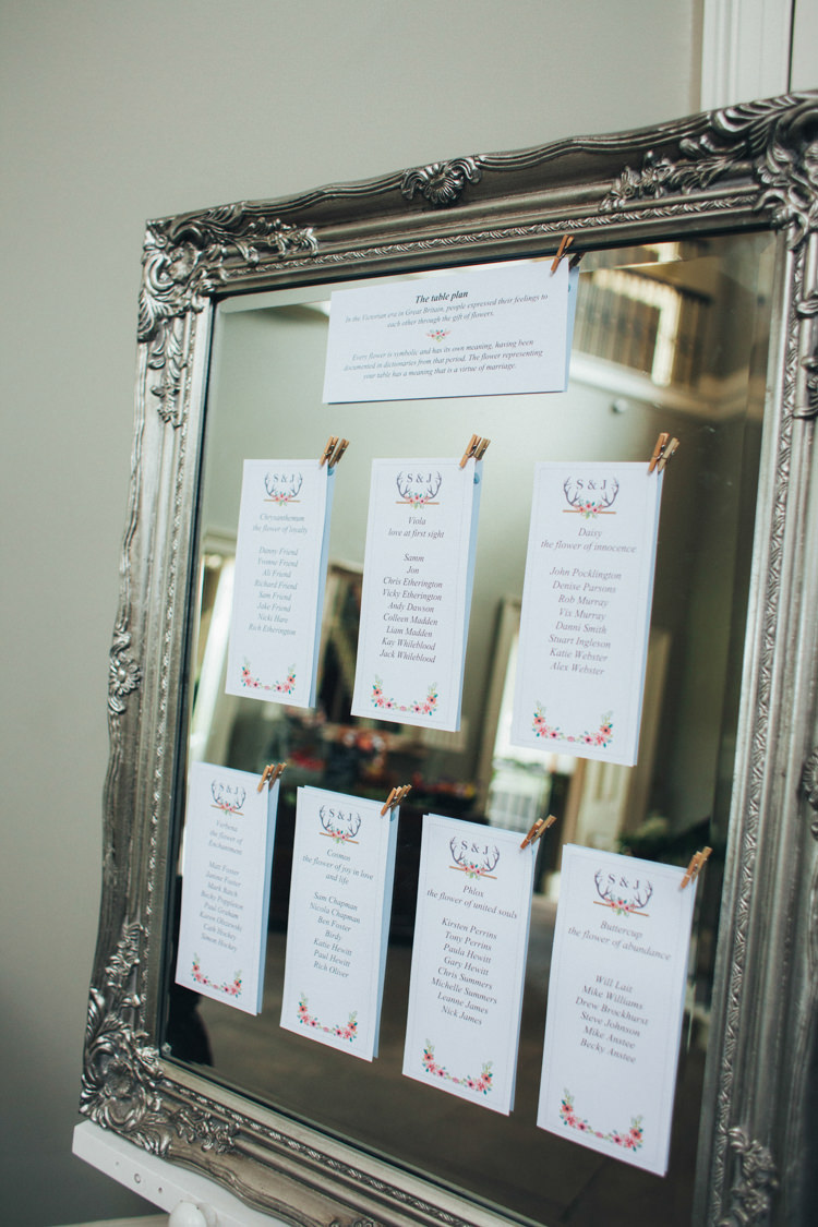 Gilt Mirror Frame Seating Chart Table Plan Ethereal Forest Eclectic Fairytale Wedding http://www.caseyavenue.co.uk/