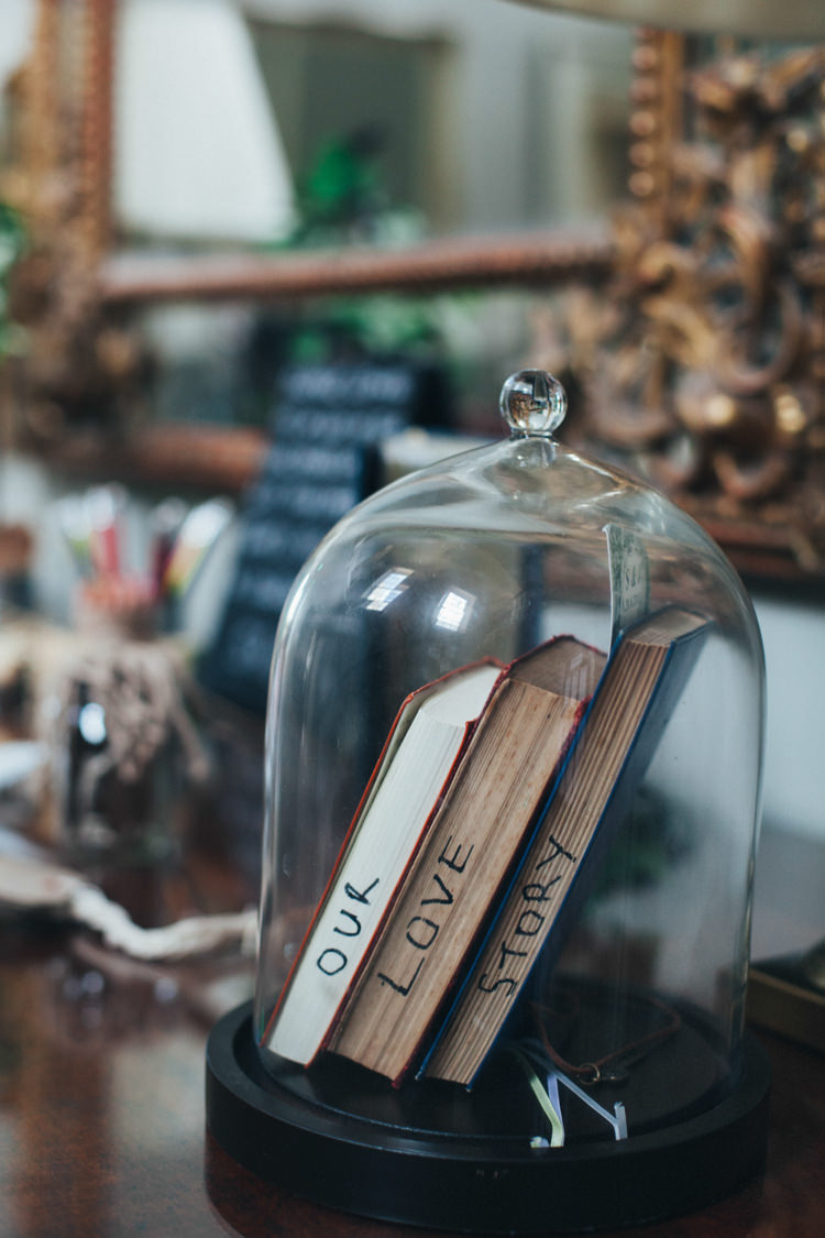 Bell Jar Books Decor Ethereal Forest Eclectic Fairytale Wedding http://www.caseyavenue.co.uk/