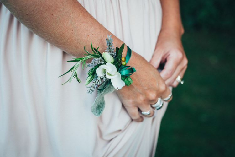 Bridesmaid Wrist Corsage Ethereal Forest Eclectic Fairytale Wedding http://www.caseyavenue.co.uk/