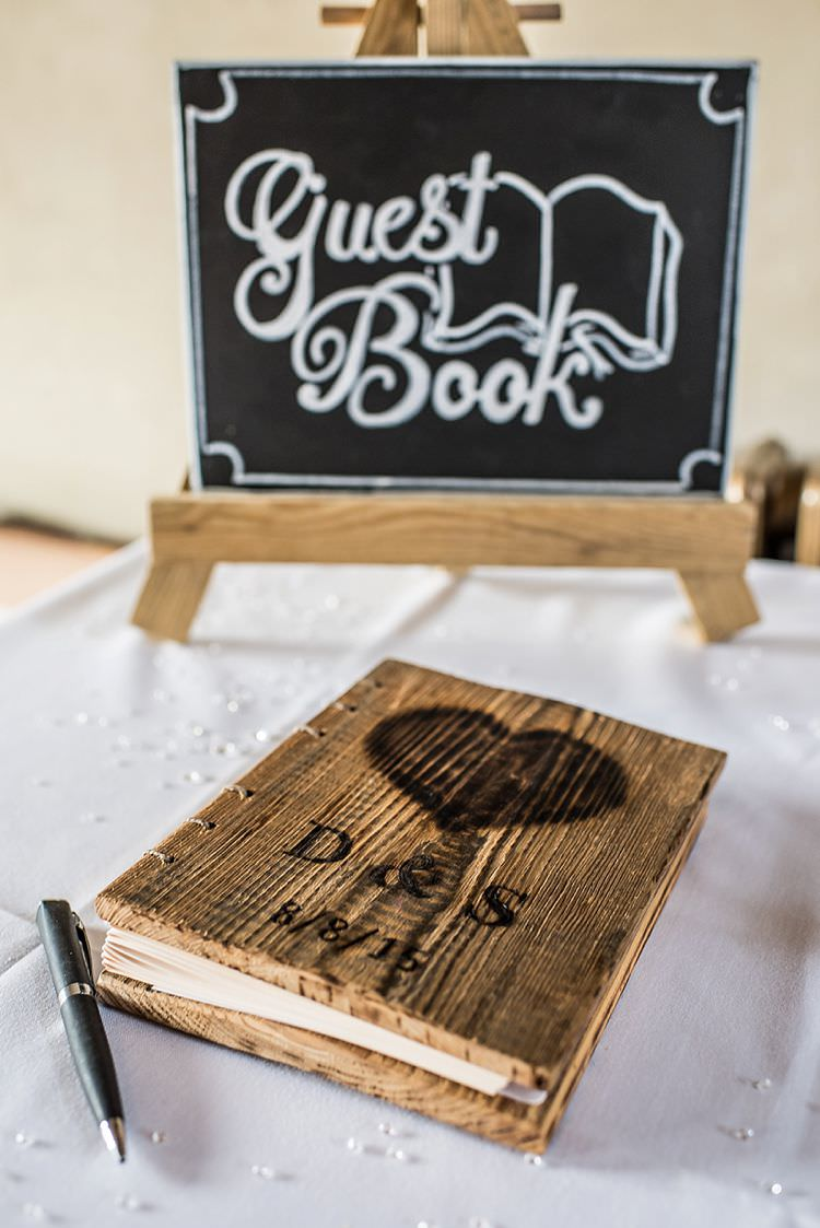 Wooden Rustic Personalised Guest Book Outdoor Festival Summer Wedding http://lighteningphotography.co.uk/