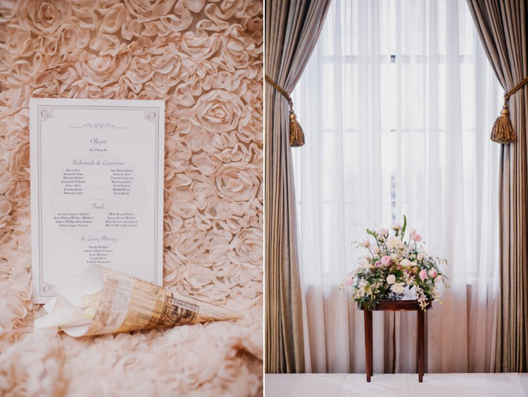 Stationery Blush Flowers Opulent Pink Gold Victorian Wedding in Seattle http://www.barrieannephotography.com/
