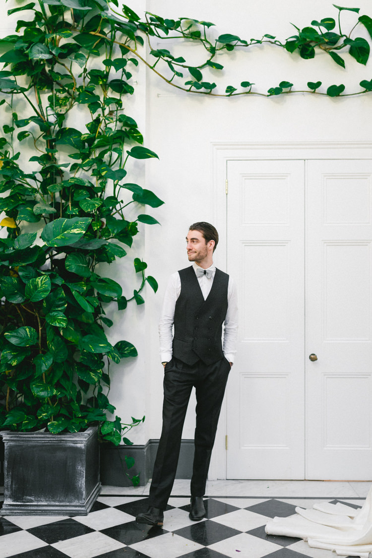 Groom Waistcoat Bow Tie Modern Fresh Watercolour Wedding Ideas http://www.beatriciphotography.co.uk/
