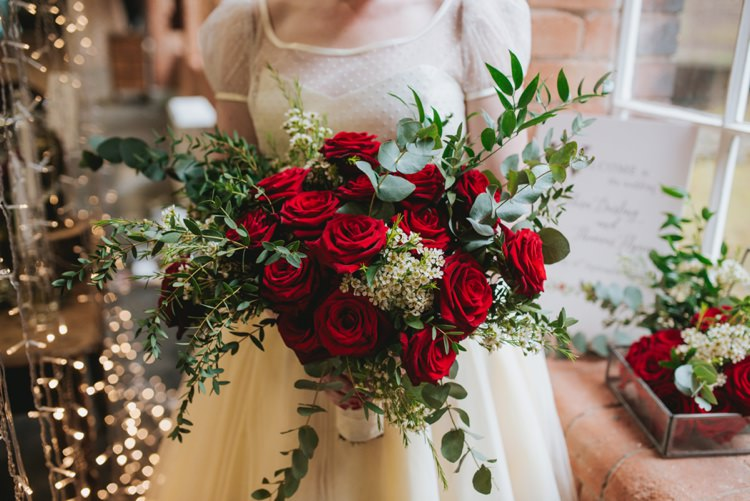 Red Rose Bouquet Bride Bridal Flowers Magical Fairytale Disney Wedding Ideas http://www.beckyryanphotography.co.uk/