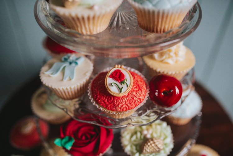 Snow White Rose Cup Cakes Magical Fairytale Disney Wedding Ideas http://www.beckyryanphotography.co.uk/