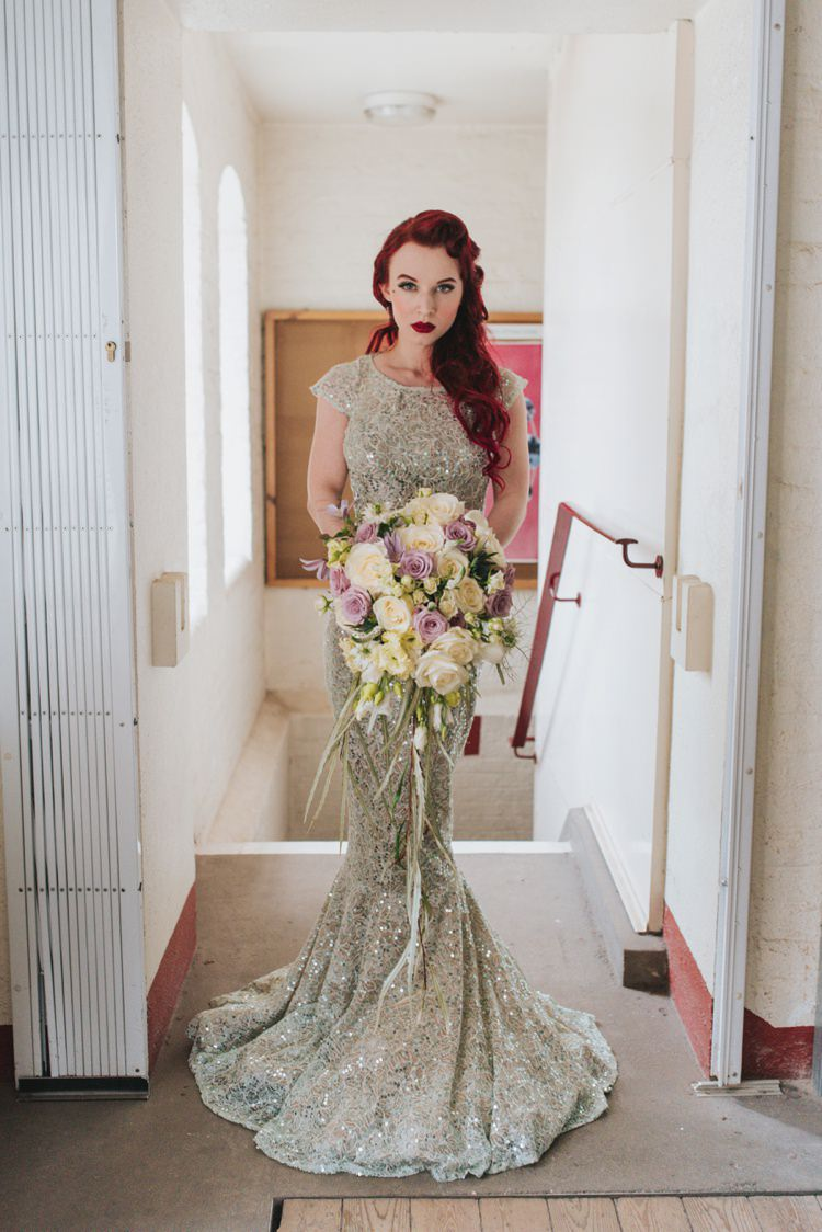 Long Sequin Dress Gown Mermaid Bride Bridal Magical Fairytale Disney Wedding Ideas http://www.beckyryanphotography.co.uk/