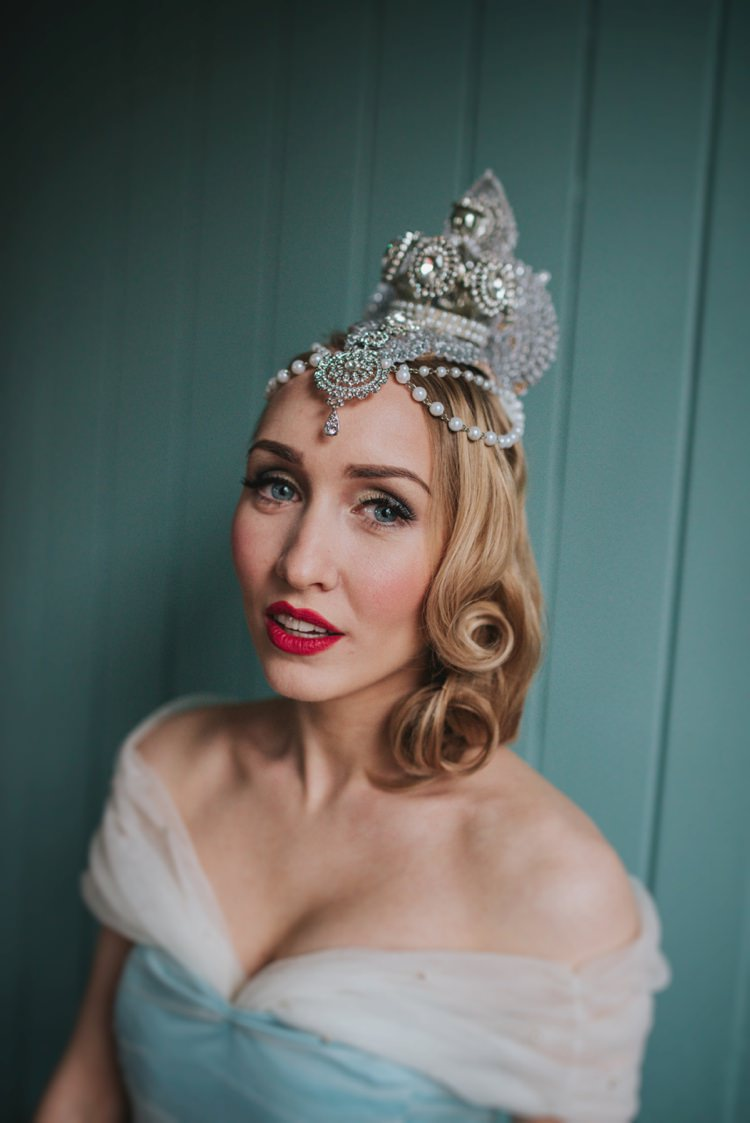 Make Up Red Lip Cinderella Headdress Bride Bridal Magical Fairytale Disney Wedding Ideas http://www.beckyryanphotography.co.uk/