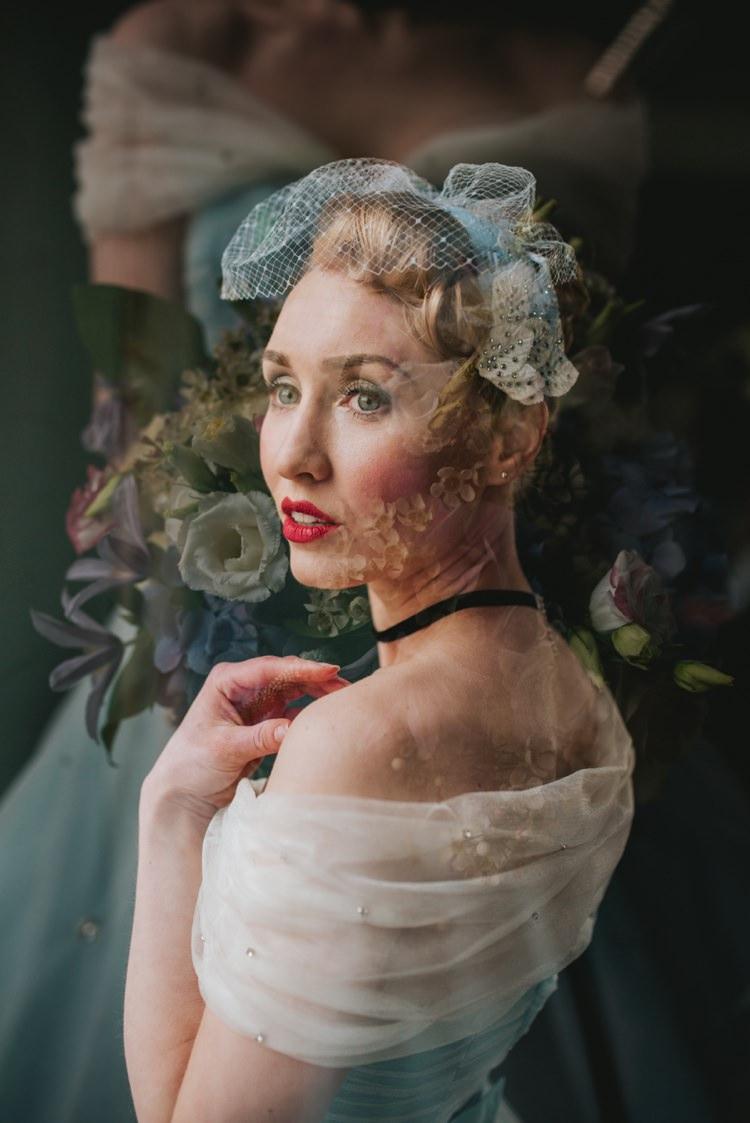 Cinderella Bride Bridal Veil Headdress Magical Fairytale Disney Wedding Ideas http://www.beckyryanphotography.co.uk/