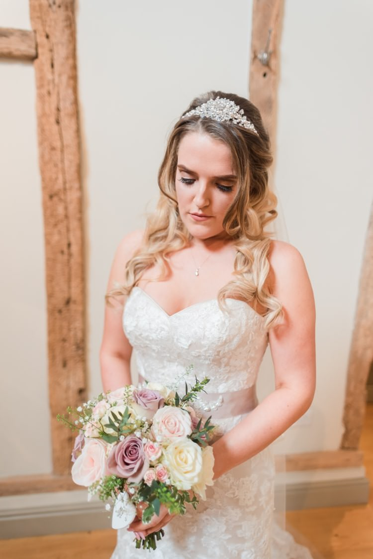 Maggie Sottero Ascher Dress Gown Bride Bridal Lace Pretty Pale Pink Country Barn Wedding http://kerriemitchell.co.uk/