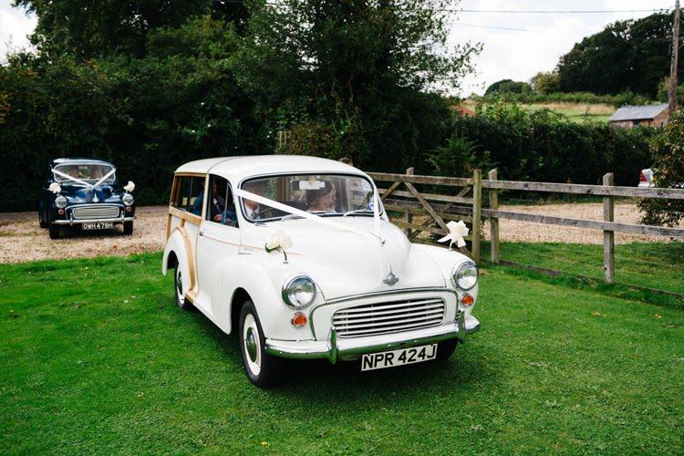 Morris Minor Car Vintage Home Made Farm Wedding http://www.honeyandthemoonphotography.co.uk/