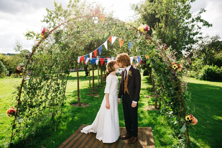 Flower Arch Gardens Vintage Home Made Farm Wedding http://www.honeyandthemoonphotography.co.uk/