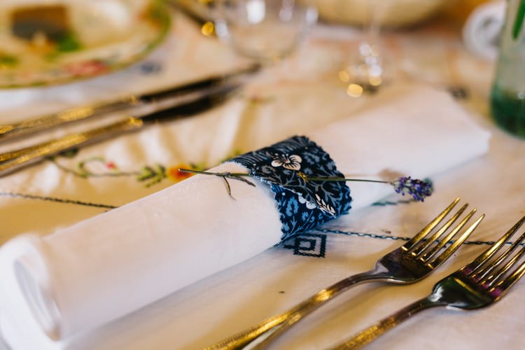 Fabric Napkin Rings Vintage Home Made Farm Wedding http://www.honeyandthemoonphotography.co.uk/