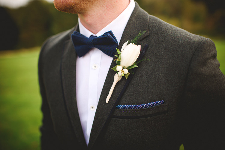 Bow Tie Groom Intimate Outdoor Farmhouse Wedding http://www.abiriley.co.uk/