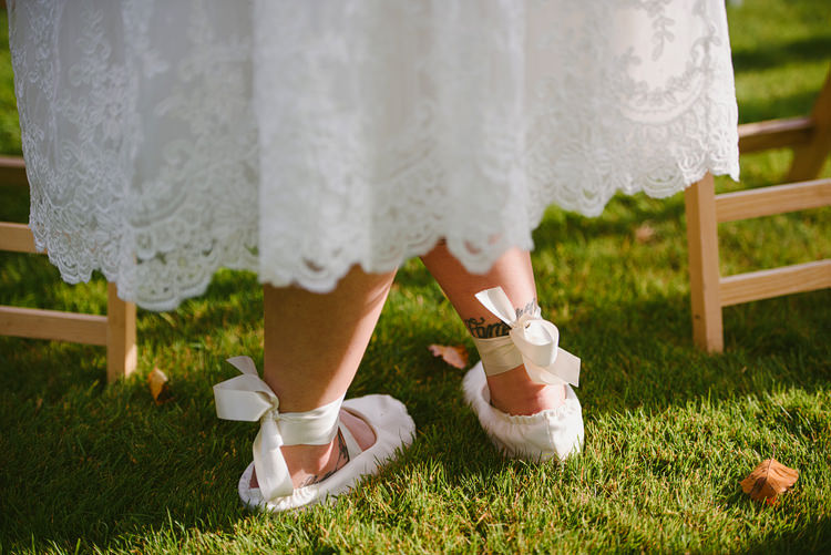 Ballet Shoes Pumps Bride Bridal Intimate Outdoor Farmhouse Wedding http://www.abiriley.co.uk/