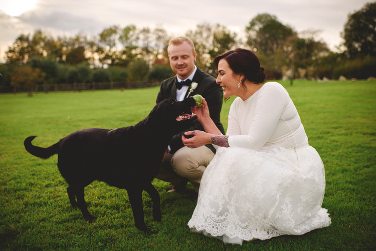 Pet Dog Intimate Outdoor Farmhouse Wedding http://www.abiriley.co.uk/