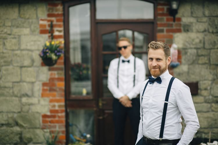 Bow Ties Braces Groomsmen Wild Flowers Outdoors Heartfelt DIY Wedding http://www.mattandesther.co.uk/