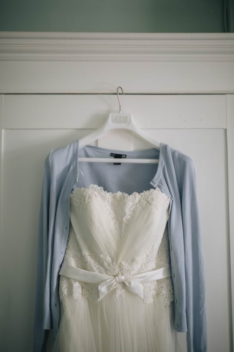 Annasul Y Dress Gown Blue Cardigan Wild Flowers Outdoors Heartfelt DIY Wedding http://www.mattandesther.co.uk/