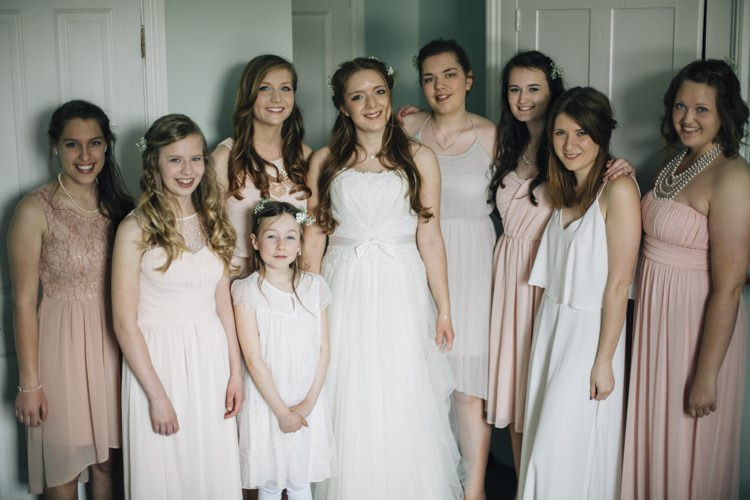 Mismatched Bridesmaids Peach Wild Flowers Outdoors Heartfelt DIY Wedding http://www.mattandesther.co.uk/