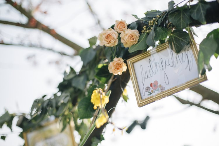 Floral Arch Arbour Ceremony Wild Flowers Outdoors Heartfelt DIY Wedding http://www.mattandesther.co.uk/