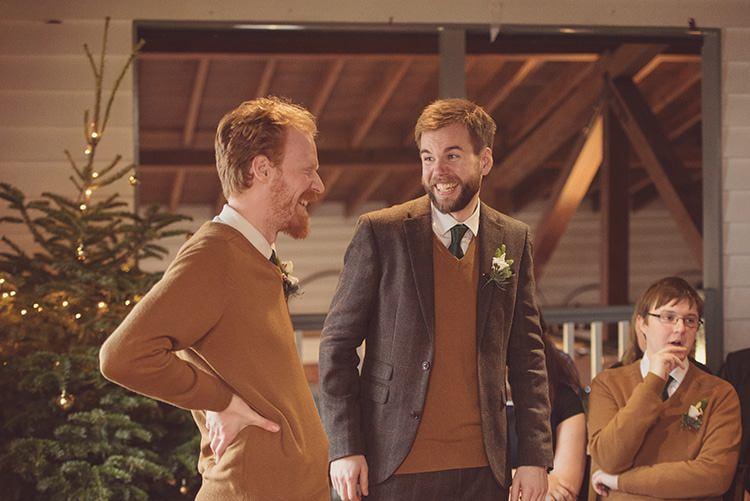 Tweed Brown Suit Jumper Groom Rustic Folksy Winter Wedding http://www.rebeccadouglas.co.uk/