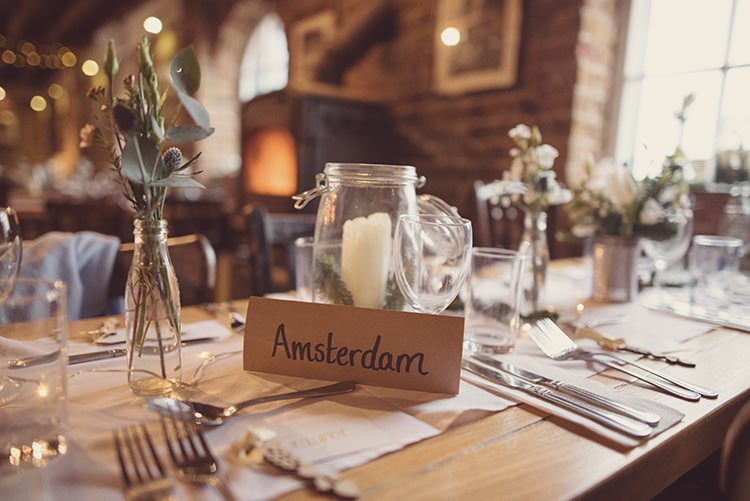 City Table Names Rustic Folksy Winter Wedding http://www.rebeccadouglas.co.uk/