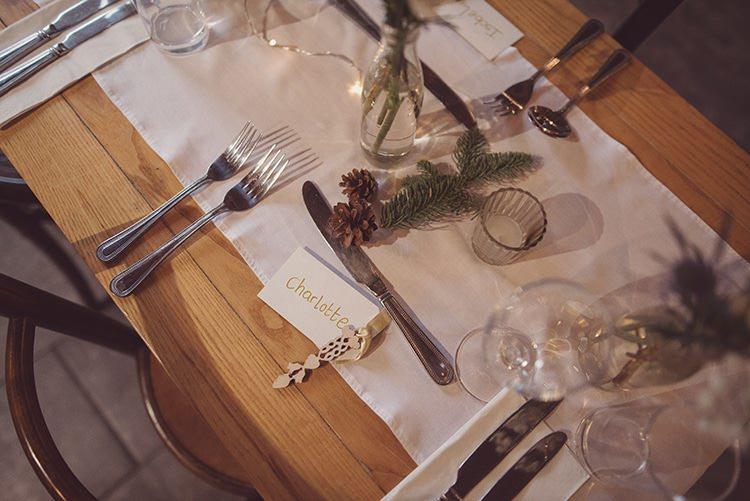 Pine Cone Fir Tree Decor Tables Rustic Folksy Winter Wedding http://www.rebeccadouglas.co.uk/