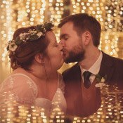 Rustic & Folksy Green Winter Wedding
