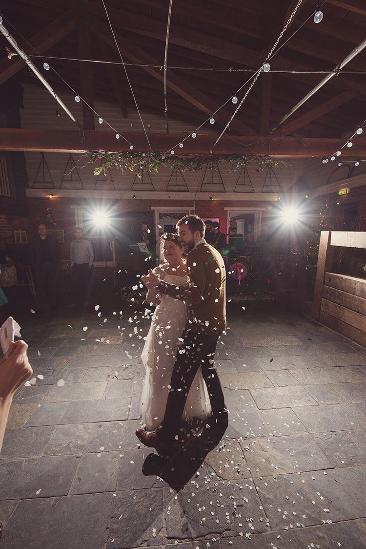 Confetti Canon Rustic Folksy Winter Wedding http://www.rebeccadouglas.co.uk/