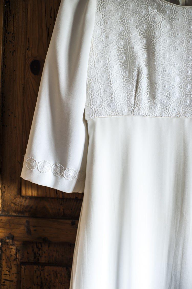 1970s Dress Gown Bride Bridal Vintage Cornflower Blue Wedding http://eleanorjaneweddings.co.uk/