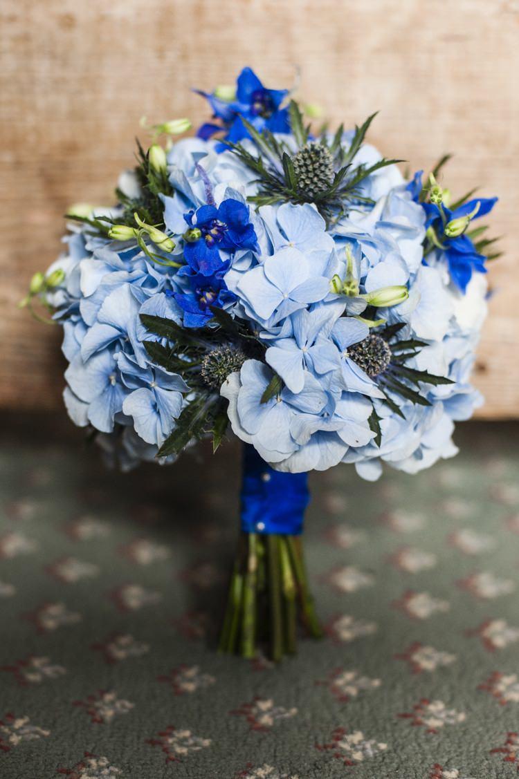 Hydrangea Bouquet Bride Bridal Flowers Vintage Cornflower Blue Wedding http://eleanorjaneweddings.co.uk/