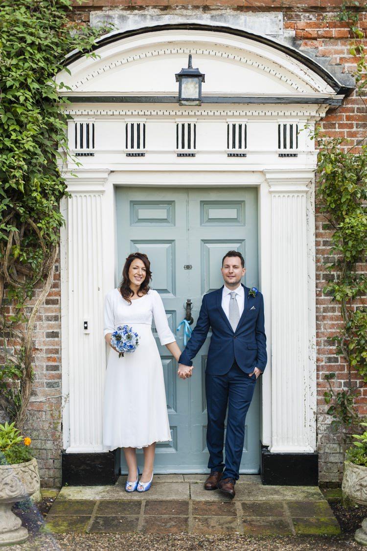 Vintage Cornflower Blue Travel Wedding
