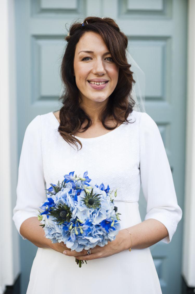 Natural Bride Bridal Make Up Hair Vintage Cornflower Blue Wedding http://eleanorjaneweddings.co.uk/