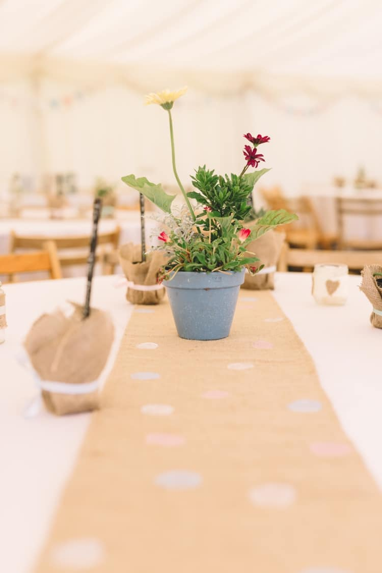 Potted Plant Table Decor Centrepiece Boho Beer Festival Wedding http://www.emilysteve.com/