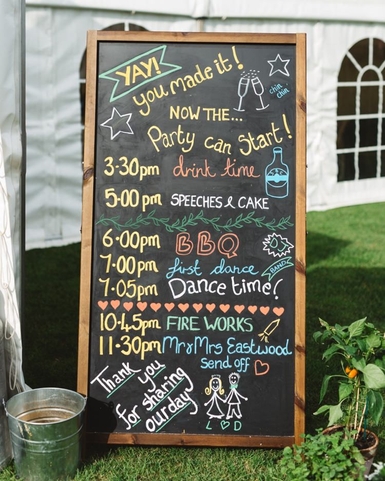 Black Chalk Board Sign Order Day Boho Beer Festival Wedding http://www.emilysteve.com/