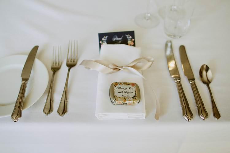 Ribbon Place Setting Decor Romantic Pastel Countryside Wedding http://davidjenkinsphotography.com/