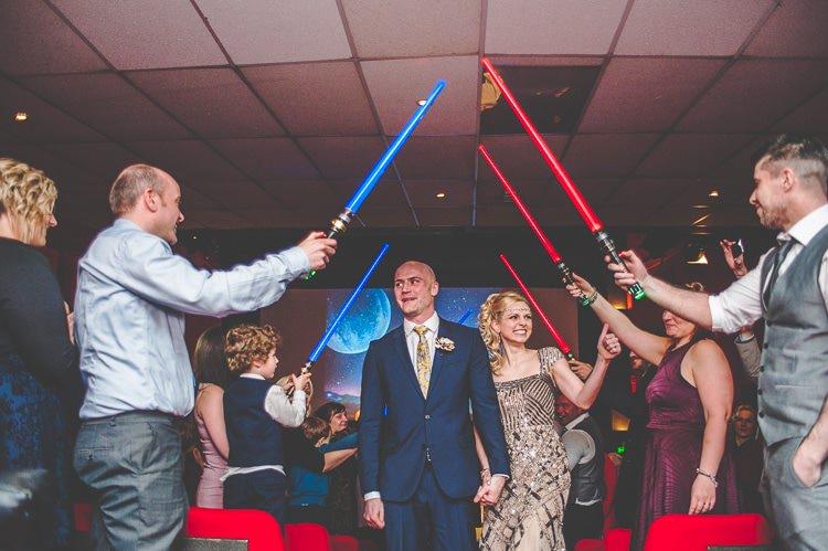Light Sabers Star Wars Wedding http://www.robfarrellphotography.uk/