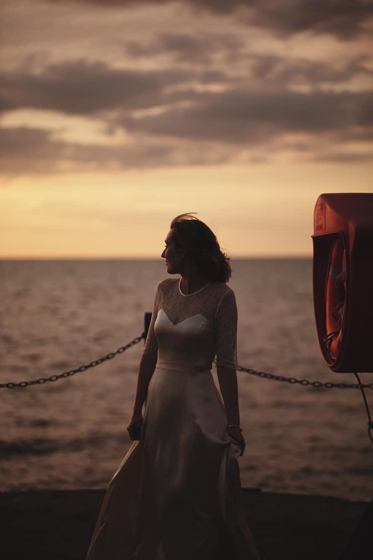 Darcey by Belle & Bunty Dress Gown Bride Bridal Sleeves Free Spirited Beautiful Beach Wedding https://www.paulfullerkentphotography.com/