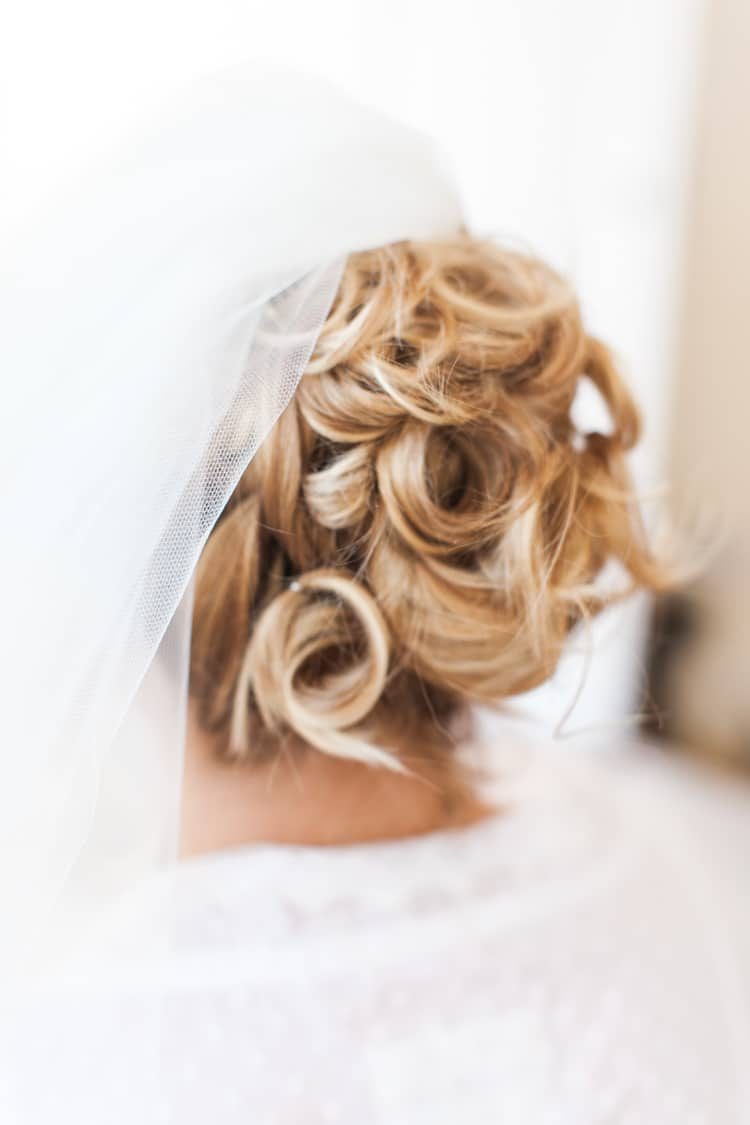 Hair Up Do Style Bride Bridal Fresh Pretty Humanist Wedding http://summerlilystudio.com/