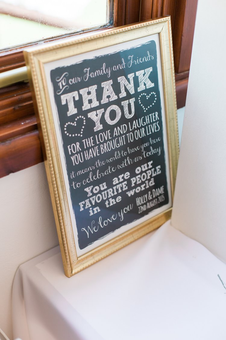 Thank You Sign Fresh Pretty Humanist Wedding http://summerlilystudio.com/