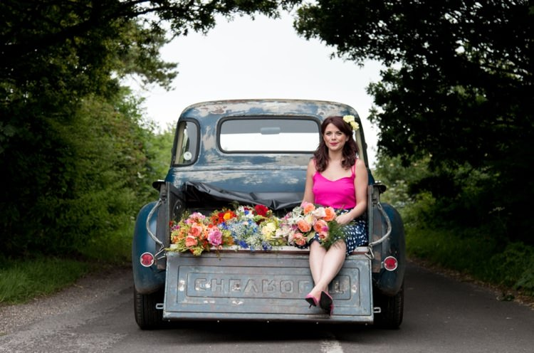Rustic Rose Florist Wedding Colourful South West