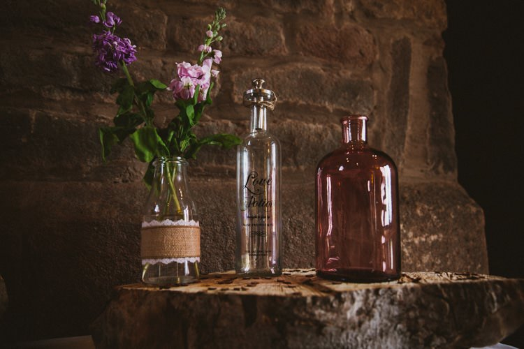 Love Potion Flowers Bottles Decor Floral Rustic Country Barn Wedding http://www.allymphotography.com/