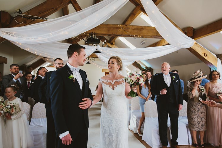 Swags Drapes Fabric Fairy Lights Floral Rustic Country Barn Wedding http://www.allymphotography.com/