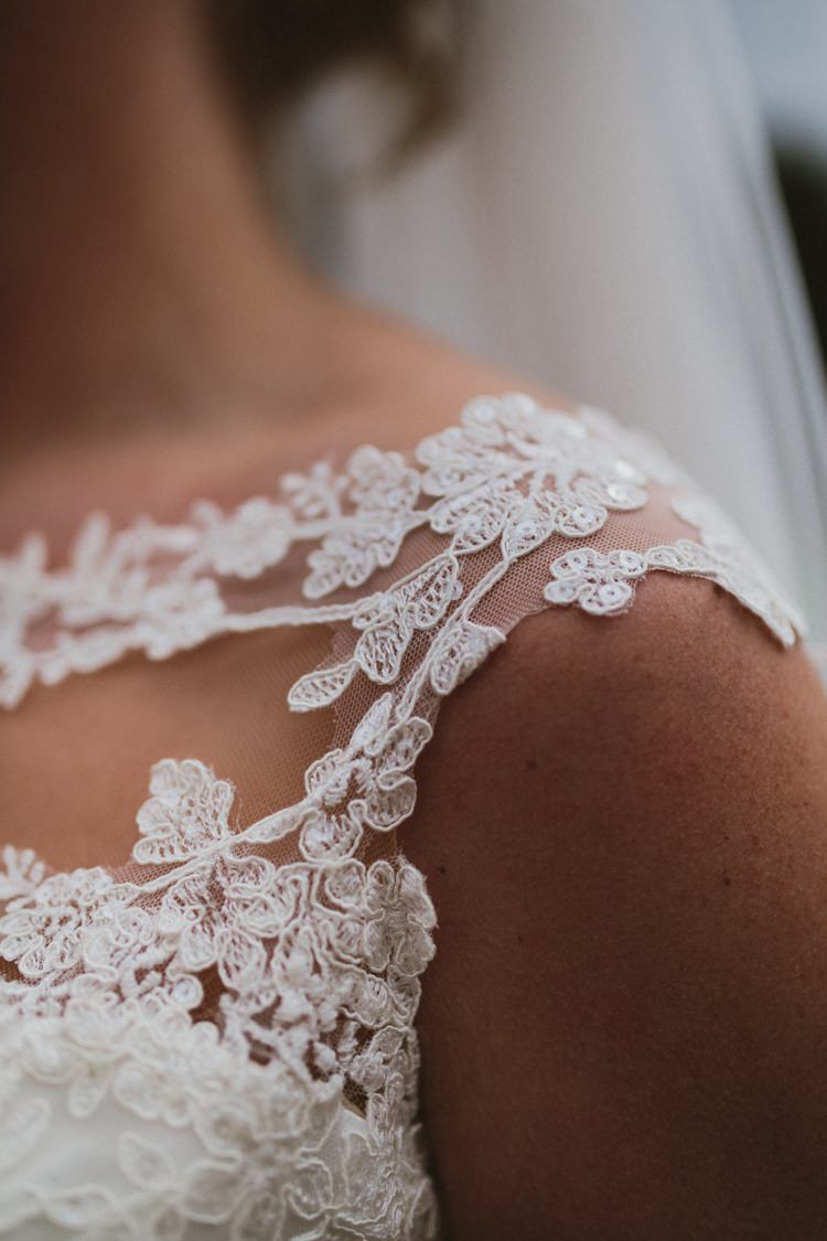 Stella York Lace Straps Gown Sheer Bride Bridal Dress Floral Rustic Country Barn Wedding http://www.allymphotography.com/