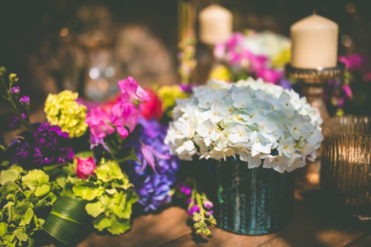 White Hydrangea Flowers Table Summer Brights Jewelled Glamour Wedding Ideas http://realsimplephotography.net/