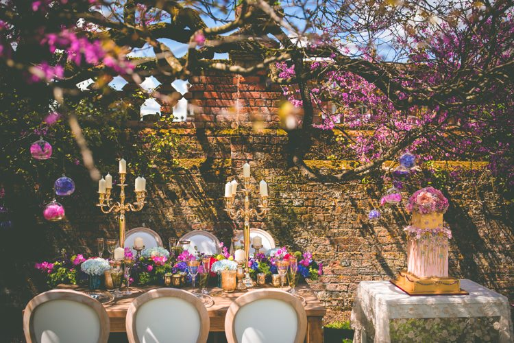 Blossom Tree Pink Table Decor Summer Brights Jewelled Glamour Wedding Ideas http://realsimplephotography.net/