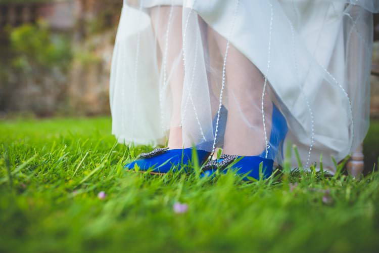 Blue Shoes Bride Bridal Summer Brights Jewelled Glamour Wedding Ideas http://realsimplephotography.net/