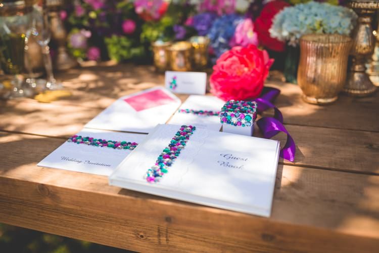 Summer Brights Jewelled Glamour Wedding Ideas http://realsimplephotography.net/