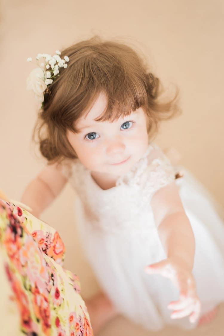 Flower Girl Bridesmaid Toddler Multicoloured DIY Rustic Wedding http://vickylamburn.com/